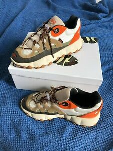 CLINTS Inc. Ivory/ Orange/ Beige TRL Footprint Sneaker US 9 UK 8 EU 42 BRAND NEW