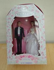 Hallmark 1997 BARBIE AND KEN WEDDING DAY Ornaments Cake Topper MIB Nice!!