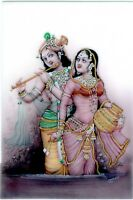 Handmade Radha Krishna Painting Finest Miniature Art Indian God & Goddess
