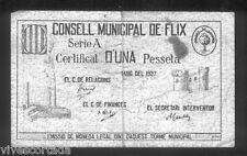 Ayuntamiento de FLIX 1 Peseta  @ Ribera del Ebre - Reus @