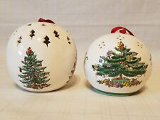 Potpourri Balls Holiday Christmas Trees - spode & fermalities - lot of 2