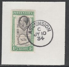 Ascension 5570 - 1934 KG5 1d  on piece with MADAME JOSEPH FORGED POSTMARK