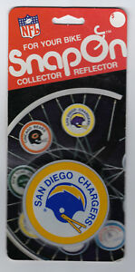 1979 San Diego Chargers bike reflector MIP Snap-On original MINT in package rare