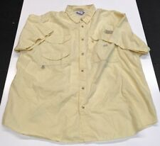 Columbia Pfg Preformance Vent Mesh Yellow Fishing Gear Shirt M