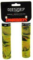 DMR Brendog Flangeless DeathGrip Mountain Bike Grips, Thick, Green Camo