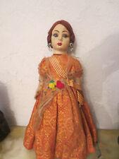 "14"" Nati Cloth Doll circa 1930s Spain - Lenci Raynal Type"