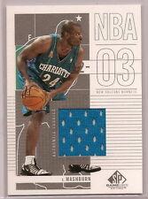 2003-04 SP Game used Authentic Jamal Mashburn Jersey Card