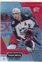 20/21 SYNERGY..SETH JONES..RED ACETATE..BOUNTY..UNSCRATCHED..# 45..BLUE JACKETS