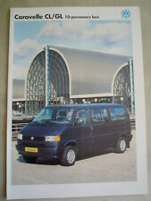 VW Caravelle CL/GL 10 Seater Bus brochure Oct 1992  text??