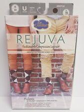 Large Rejuva® BROWN Argyle Socks Knee Compression Leg Wear Closed Toe Unisex