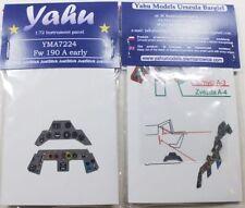 Yahu modèles 1/72 ème 04899 Revell, PE instrument panneaux FW 190 un début pour tamyia / zveada, yma7224