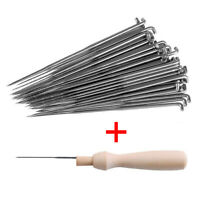 60pcs Felting Needles Pin Tools Of Felt Of Wool Pins 3 Sizes With Wooden Handle