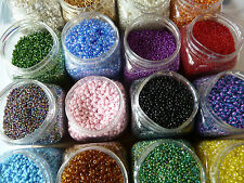 35 bags 10g Mixed & Plain Seed and Bugle Beads Selection of Colour and Sizes