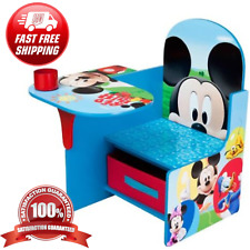 Kids Desk and Chair Set Mickey Mouse Activity Table Kids Room Home School Play