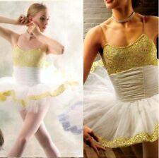 Etudes Dance Baby Costume Gold Ballet Tutu 6 Row Christmas Child X-Small