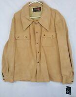 New NOS Vintage 10X Suede Leather Jacket Coat Sz XL USA
