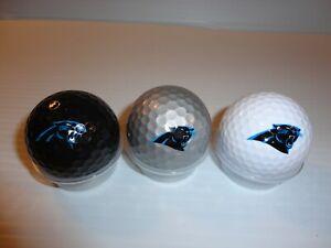 Team Golf NFL Carolina Panthers Regulation Size Golf Balls, 3 Pack, Full Color