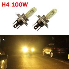 2Pcs Auto Car H4 Halogen 100W 12V High Beam Bright Headlight Bulbs Hyper Yellow