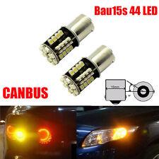 2X PY21W Amber Orange 44 LED Canbus Bulbs Indicator Signal Front Rear 581 BAU15S