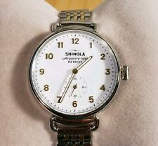 Shinola Canfield Watch with 38mm White Face & Silver & YellowGold Tone Breclet