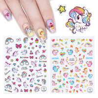3D Nail Art Stickers  Star Heart Adhesive Transfer Decals Nail Decoration