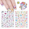 Unicorn 3D Nail Art Stickers Rainbow Star Heart Adhesive Transfer Stickers Decal