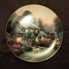 Thomas Kinkade Collector Plate Julianne's Cottage Enchanted Cottages Knowles