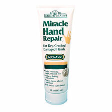 Miracle Hand Repair Cream 8 oz- For dry, cracked & flaking hands, 60% ultra aloe