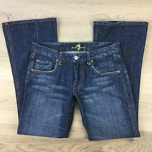 7 For All Mankind A pocket Bootcut Stretch Women's Jeans Size W28 L28 (ZZ17)