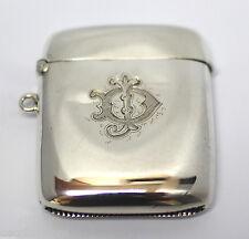 Antique Sterling Silver Match Case