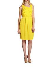 NWT Hugo Boss Black label yellow chiffon silk dress 10 party $795 wedding