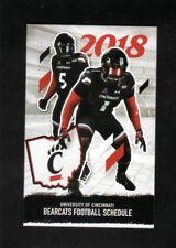 Cincinnati Bearcats--2018 Football Pocket Schedule--PNC Bank