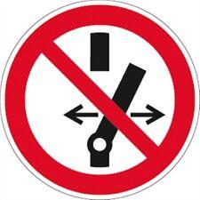 Schild PVC Schalten verboten Ø 10 cm