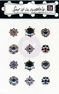 "Prima Marketing - Say it in Crystals "" Acrylic Gemstone Flower Centers"" 521929"