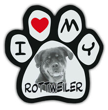 Picture Paws | Dog Paw Shaped Magnets: I LOVE MY ROTTWEILER | Car Magnet