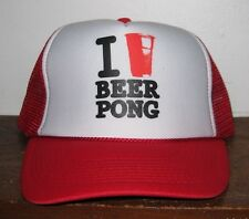 I Love Beer Pong Trucker Style Baseball Hat Cap Snapback One Size Adults