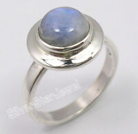 925 Solid Silver Amazing BLUE FIRE RAINBOW MOONSTONE BESTSELLER Ring Any Size