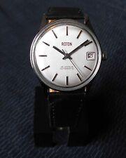 Alte Herren ROTON Automatik Edelstahl Uhr Vintage Watch Automatic 60/70er nice