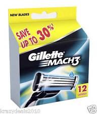 Gillette MACH3 Refills Razor Blades for Men - 12 Cartridges Mach 3, German Made