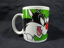 Sylvester And Tweety Bird Mug Coffee Cup 1998 Looney Tunes Gibson Warner Bros