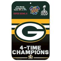 Green Bay Packers Past Super Bowl Champion Sign