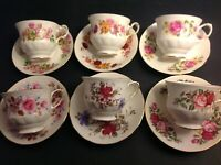 6 SETS CUPS & SAUCERS BY QUEEN ANNE BONE CHINA ENGLAND LOT 22