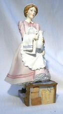 ROYAL WORCESTER UPSTIARS DOWNSTAIRS  FIGURINE   THE CHAMBER MAID