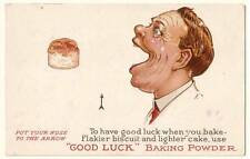 "Old Print. ""Good Luck"" Baking Powder Advertisement"