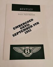 Bentley Brooklands Launch Press Pack