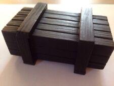 RC Rock Crawler Sellada Caja De Madera Decoración Negro Para 1/10 rastreadores de rock/Etc