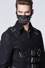 Mad Max Style Black Spike Rivet Mouth Mask Punk Gothic Road Warrior Costume