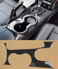 Fit For Ford Mustang 2015-2017 Carbon fiber Interior Water cup frame panel Cover