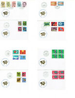 Switzerland Post Stamps on Envelopes Lot of 40 VF-XF Rare Collection  1949-1973