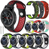 20 22mm Quick Release Spring Bars Silicone Rubber Wrist Band Strap Bracelet Soft